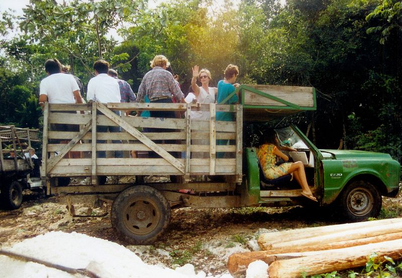 Kay Wedding back truck to jungle